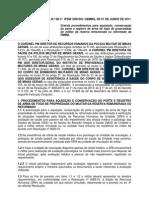 Instrução conjunta 08 2011 aquisição armas de fogo Reserva Reformados