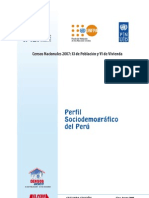 Perfil Sociodemografico Del Peru - Censos Nacionales 2007