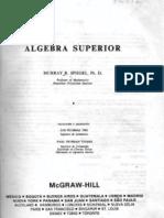 Algebra Superior - Schaum - En Español
