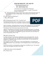 Difference Between EPF GPF & PPF