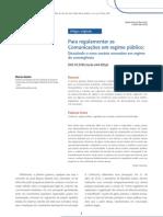 Para regulamentar as Comunicações em regime público