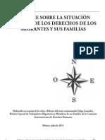 Informe sobre la situación general de los derechos de los migrantes y sus familias