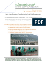 Hydro Power Generators and Other Products From Addnew.com.Hk