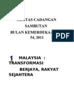 Kertas Kerja Sambutan Bulan Kemerdekaan Ke 54,  2011