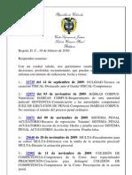 BOLETIN(19-02-10)_Boletín jurisprudencia - 19 febrero 2010