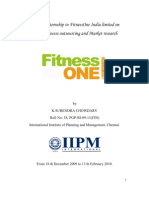 Fitness One Report