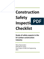 Construction Safety Check List