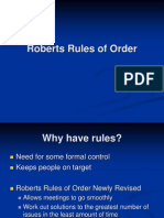 Roberts Rules Overview 5-8-07