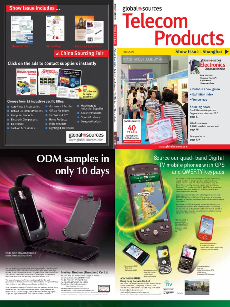 Global Sources - 2010 June - Telecom Products   Bluetooth   Smartphone