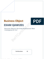 Pass4sure Business Objects QAWI201