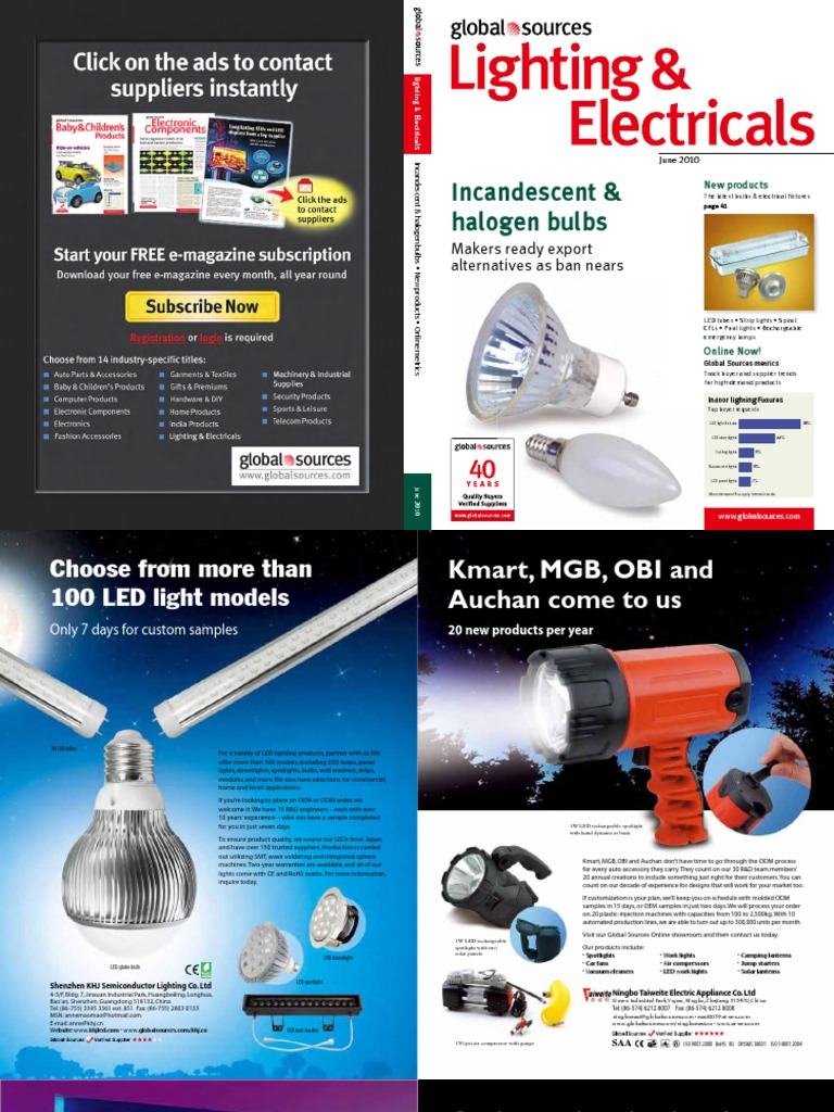 Global Sources - 2010 June - Lighting   Electricals   Compact Fluorescent  Lamp   Light Emitting Diode 19bd4903f2