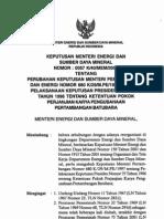 KEPUTUSAN MENTERI ENERGI DAN SUMBER DAYA MINERAL NOMOR 0057/K40/MEM/2004