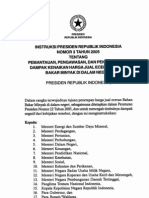INSTRUKSI PRESIDEN REPUBLIK INDONESIA NOMOR 3 TAHUN 2005Intruksi No 3 Thn 2005