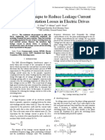 Novel Technique to Reduce Leakage Current and Commutation Losses in Electric Drives