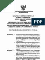 KEPUTUSAN MENTERI ENERGI DAN SUMBER DAYA MINERAL NOMOR 2288