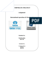 Corporate Strategy Assignment - 08MB20