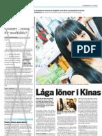 """""""Låga löner i Hongkong"""", för LO-tidningen"""