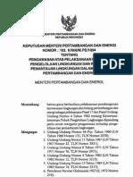 KEPUTUSAN MENTERI ENERGI DAN SUMBER DAYA MINERAL NOMOR 103.K/008/M.PE/1994