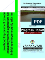 Livelihood Improvement of tail end farmers through water harvesting - Final Report Janakalyan Volume II