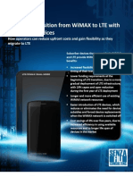 A Smooth Transition From WiMAX to LTE With Dual Mode Devices1