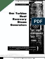 Asme Ptc 4.4 - Gas Turbine Heat Recovery Steam Generators