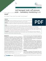 Tracheal Tube and Laryngeal Mask Cuff Pressure
