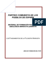 FUNDAMENTOS DE LA FILOSOFÍA MARXISTA
