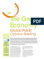Green Economy Global Public Opinion Briefing