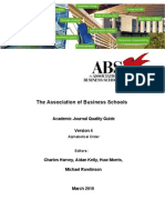 ABS Journal Rankings March 2010