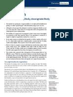 Danske Markets - US Debt Default Unlikely 20110727