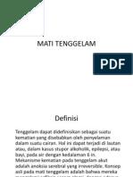 MATI TENGGELAM
