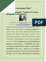Curriculum Vitae  Gilberto Andrea &  Emilia De León