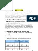 Relatório dos Resultados Escolares do Agrupamento 20010-2011