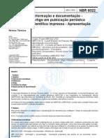 ABNT NBR 6022 2003 (Artigo)