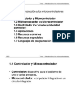 Tema 1 Introducción a los microcontroladores