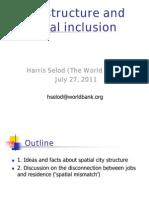Session on Social Inclusion July 27 2011 - Harris SELOD v2