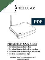 Telular SX5e GSM User Manual SPANISH