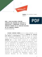 Medidas Cautelares vs Declaraciones Secretario de Marina