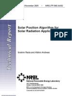 Solar Position Algorithm