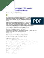 Más de Scripts de VBS Para Los Administradores de Sistemas