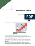 How to Create Generic Delta