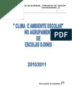 Relatórios Final - Ambiente e Clima Escolar no Agrupamento 2010-2011