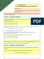 Revision Roots of Quadratics and Cubics (1)
