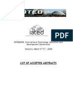 Abstracts Int Ed 2008