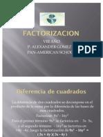 Factorizacion (Diferencia de Cuadrados