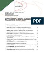 Auditions EAU Rapport