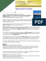2 Days Mykonos Island Tour Package