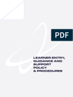 6.4 Learner Entry Guidance