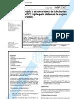 NBR 07367 NB 281 - Projeto e Assent Amen To de Tubulacoes de PVC Rigido Para Sistemas de Esgoto Sanitario