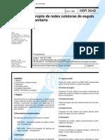 NBR 9649 - Projeto de Redes Coletoras de Esgoto